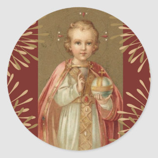 Adesivo Redondo Jesus infantil de Praga