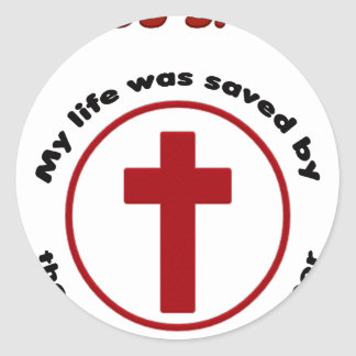 Adesivo Redondo jesus salvar, camisa cristã do presente t da