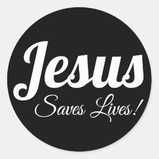Adesivo Redondo Jesus salvar vidas