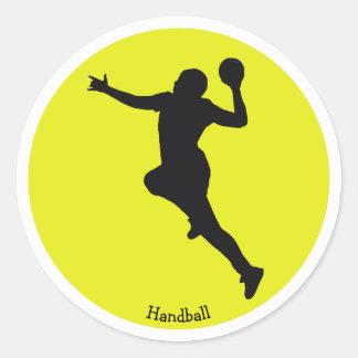 Adesivo Redondo Jogador do handball