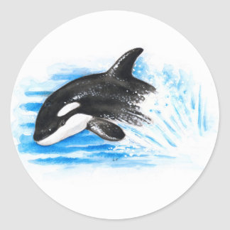 Adesivo Redondo Jogo da orca