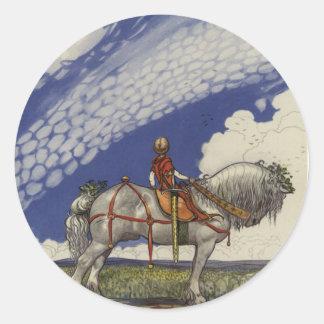 Adesivo Redondo John Bauer - no mundo largo