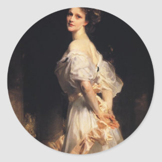 Adesivo Redondo John Singer Sargent - Nancy Astor