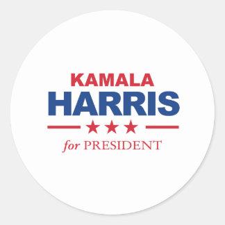Adesivo Redondo Kamala Harris para o presidente -