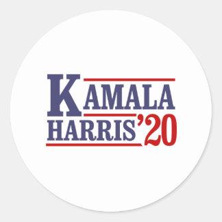 Adesivo Redondo Kamala Harris para o presidente em 2020 -