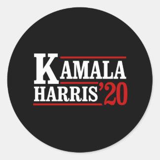 Adesivo Redondo Kamala Harris para o presidente em 2020 - branco -