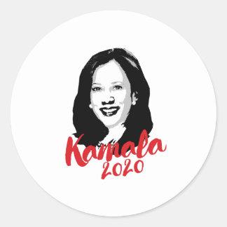 Adesivo Redondo Kamala para o presidente 2020 - caligrafia -