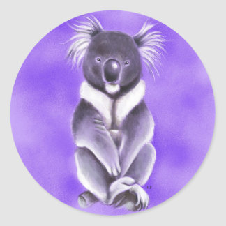 Adesivo Redondo Koala de Buddha