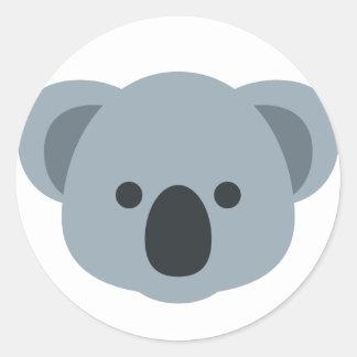 Adesivo Redondo Koala emoji