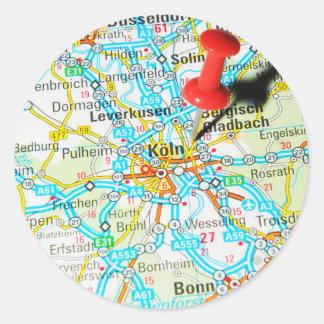 Adesivo Redondo Köln, água de Colônia, Alemanha