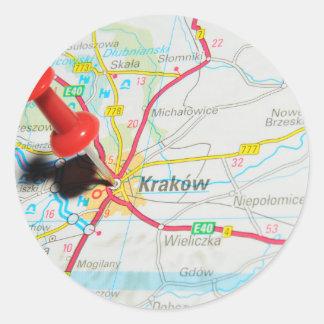 Adesivo Redondo Kraków, Krakow, Cracow no Polônia
