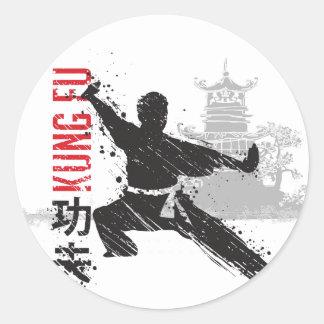 Adesivo Redondo Kung Fu