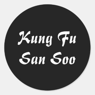 Adesivo Redondo Kung Fu San Soo