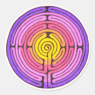 Adesivo Redondo Labirinto
