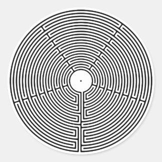 Adesivo Redondo Labirinto de 23 circuitos