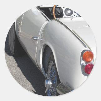 Adesivo Redondo Lado esquerdo de um carro clássico britânico velho