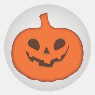 Adesivo Redondo Lanterna assustador do Dia das Bruxas Jack O