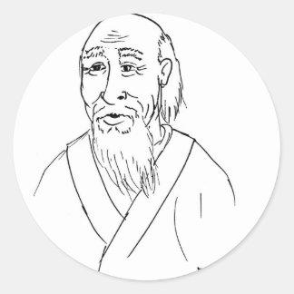 Adesivo Redondo Lao Tzu