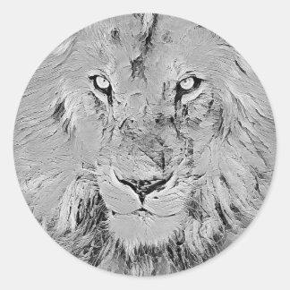 Adesivo Redondo Leão