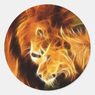 Adesivo Redondo Leões no amor