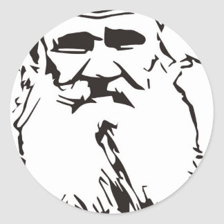 Adesivo Redondo Léon Tolstói