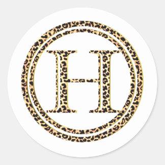 Adesivo Redondo Leopardo H