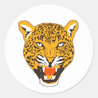 Adesivo Redondo Leopardo selvagem