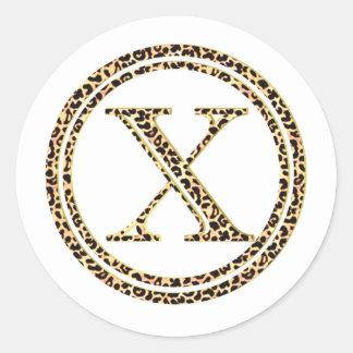 Adesivo Redondo Leopardo X