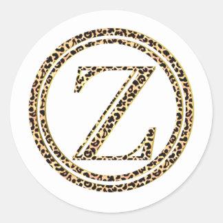 Adesivo Redondo Leopardo Z