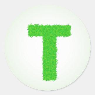 Adesivo Redondo letra verde