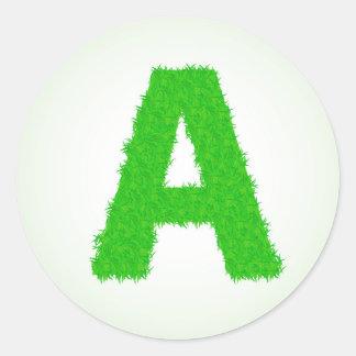 Adesivo Redondo letras verdes