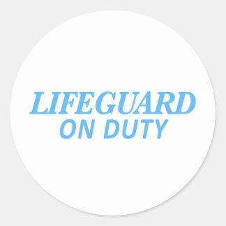 Adesivo Redondo Lifeguard no impressão do dever