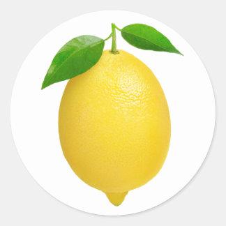 Adesivo Redondo Limão