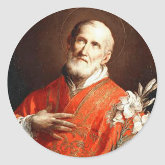 Adesivo Redondo Lírio de St Philip Neri