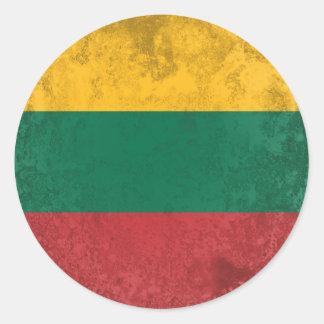 Adesivo Redondo Lithuania