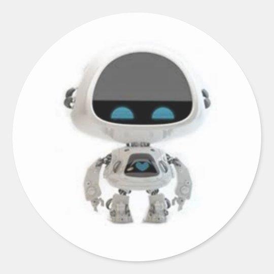Adesivo Redondo Little Robô 1