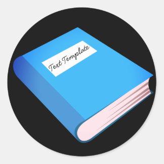 Adesivo Redondo Livro azul feito sob encomenda Emoji