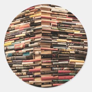 Adesivo Redondo Livros