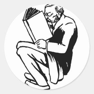 Adesivo Redondo Livros de leitura