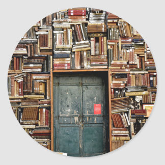 Adesivo Redondo Livros e livros