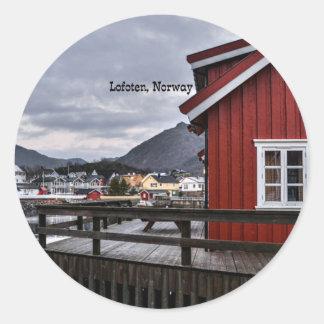 Adesivo Redondo Lofoten, Noruega