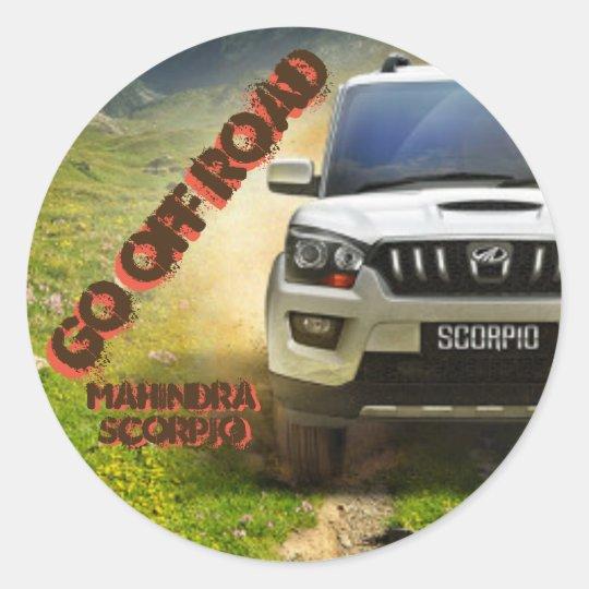 Adesivo Redondo Logo Mahindra Scorpio Sticker
