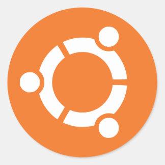 Adesivo Redondo Logo Ubuntu