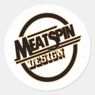Adesivo Redondo Logotipo 2 do design de Meatspin