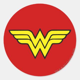 Adesivo Redondo Logotipo clássico da mulher maravilha |