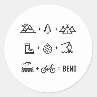 Adesivo Redondo Logotipo da equação das atividades de Oregon da