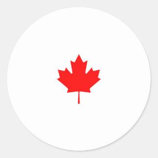 Adesivo Redondo Logotipo da folha de bordo de Canadá