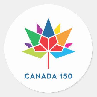 Adesivo Redondo Logotipo do oficial de Canadá 150 - multicolorido