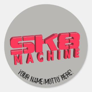 Adesivo Redondo Logotipo do skate