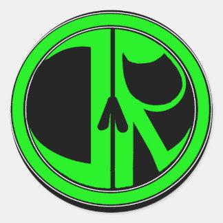 Adesivo Redondo Logotipo novo da ceifeira de justiça